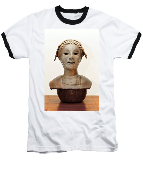 Roman Mask Torso Lady With Head Cover Face Eyes Large Nose Mouth Shoulders Baseball T-Shirt