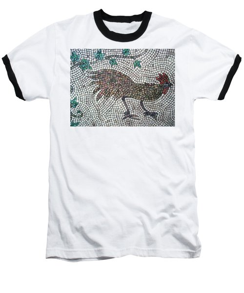 Baseball T-Shirt featuring the painting Rooster Run by Cynthia Amaral