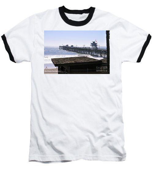 Baseball T-Shirt featuring the photograph San Clemente Pier California by Clayton Bruster