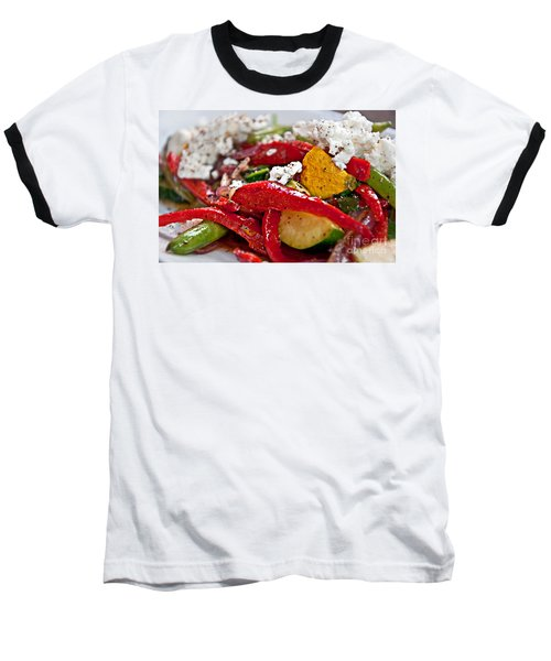 Sauteed Vegetables With Feta Cheese Art Prints Baseball T-Shirt by Valerie Garner