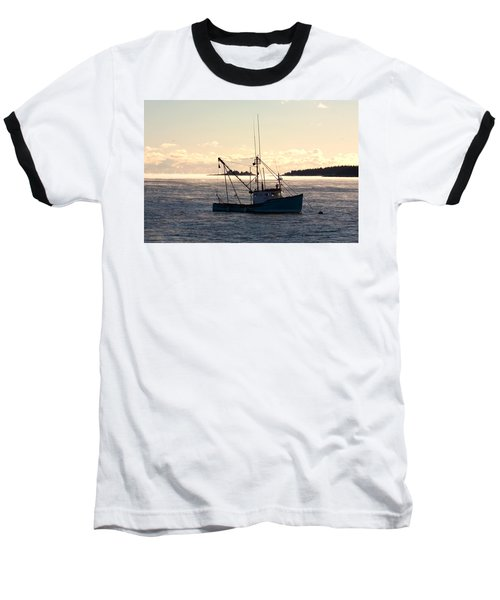 Baseball T-Shirt featuring the photograph Sea-smoke On The Harbor by Brent L Ander