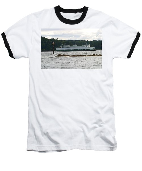 Baseball T-Shirt featuring the photograph Sealth Ferryboat Rich Passage by Kym Backland