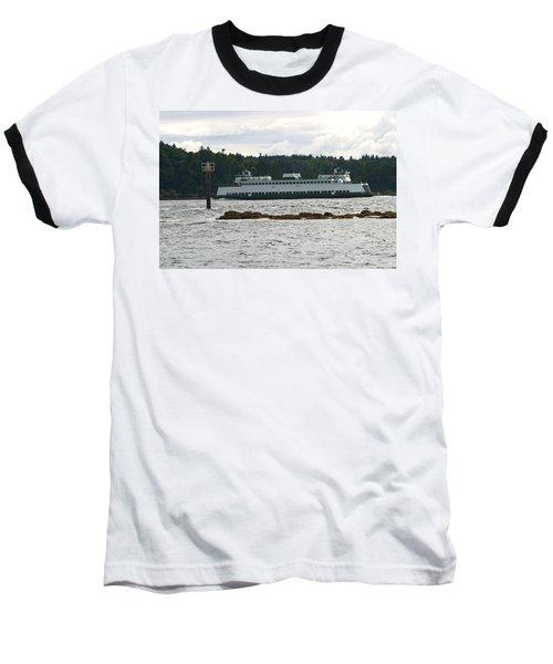 Sealth Ferryboat Rich Passage Baseball T-Shirt by Kym Backland