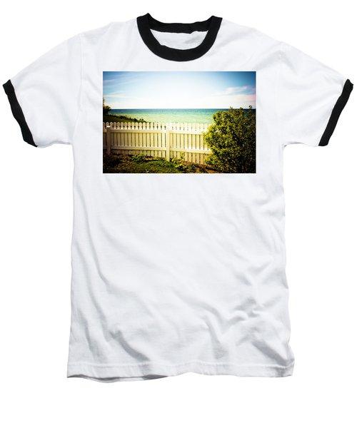 Baseball T-Shirt featuring the photograph Seaside Retreat by Sara Frank