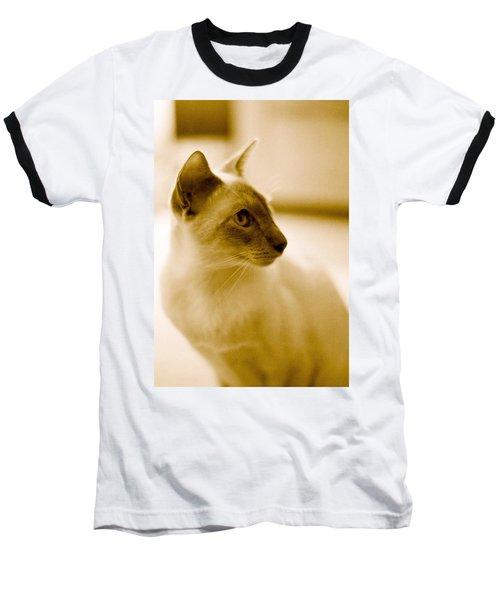 Siamese Feline Baseball T-Shirt