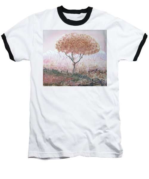 Silk Tree In Brown And Purple  Baseball T-Shirt
