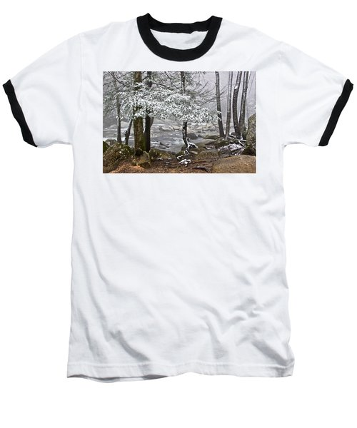 Smoky Mountain Stream Baseball T-Shirt
