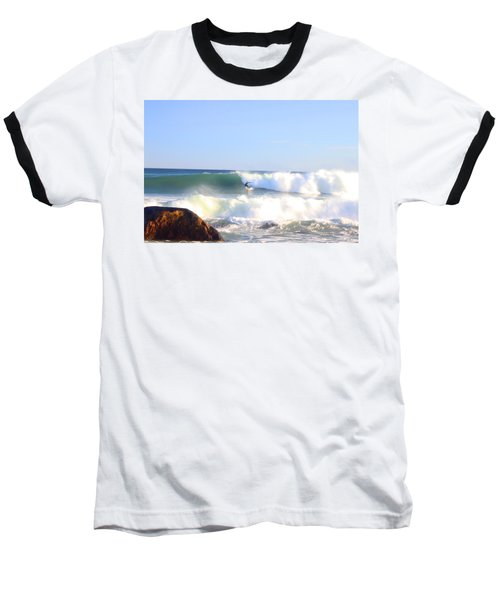 Snake Hole Surfer Baseball T-Shirt
