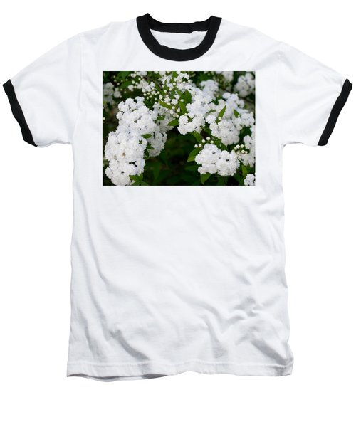 Baseball T-Shirt featuring the photograph Spirea Blooms by Maria Urso