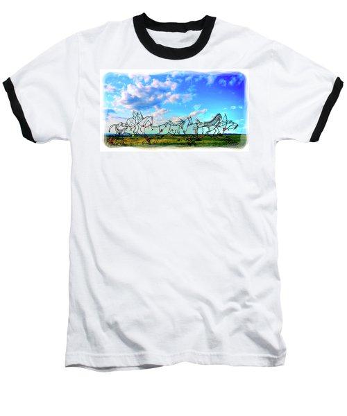 Spirit Warriors - Little Bighorn Battlefield Indian Memorial Baseball T-Shirt