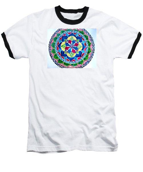 Spring Mandala Baseball T-Shirt by Sandra Lira