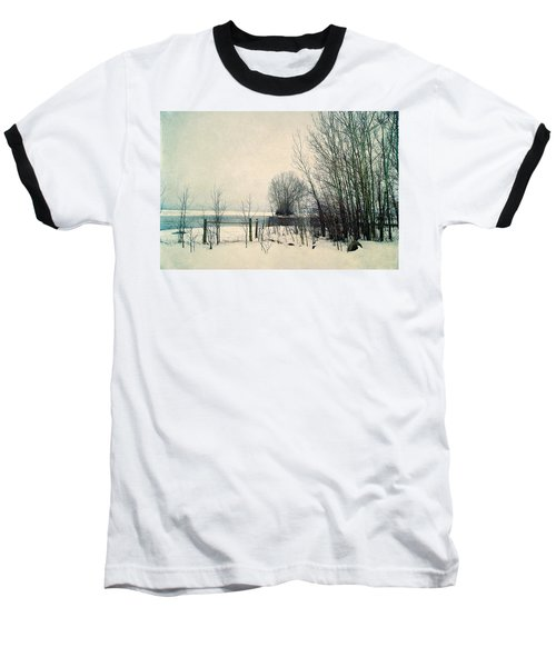 Spring Thaw Baseball T-Shirt by Leanna Lomanski