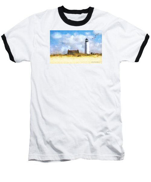 Baseball T-Shirt featuring the photograph St. George Island Lighthouse by Rhonda Strickland