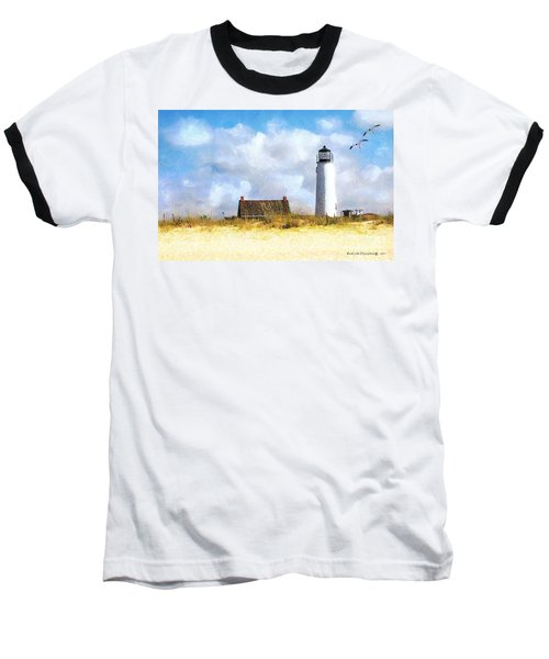 St. George Island Lighthouse Baseball T-Shirt