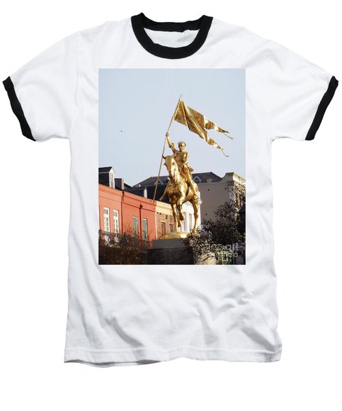 Baseball T-Shirt featuring the photograph St. Joan At Dawn by Alys Caviness-Gober