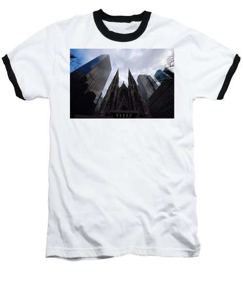 Baseball T-Shirt featuring the photograph Steeples by John Schneider