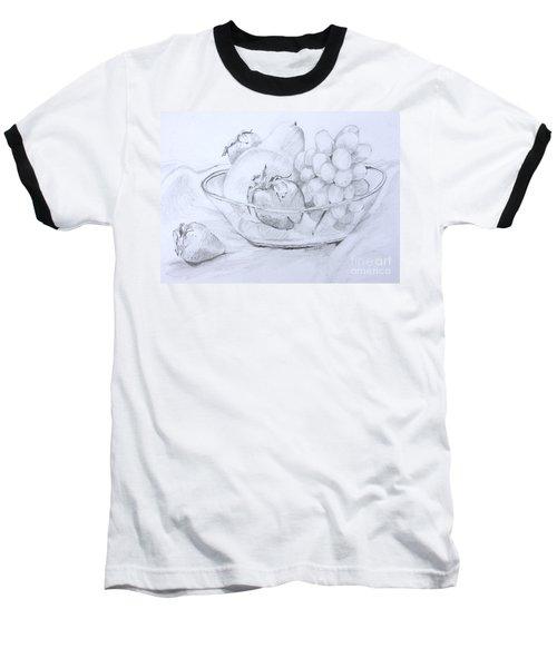 Still Life With Fruit Baseball T-Shirt by Jan Bennicoff