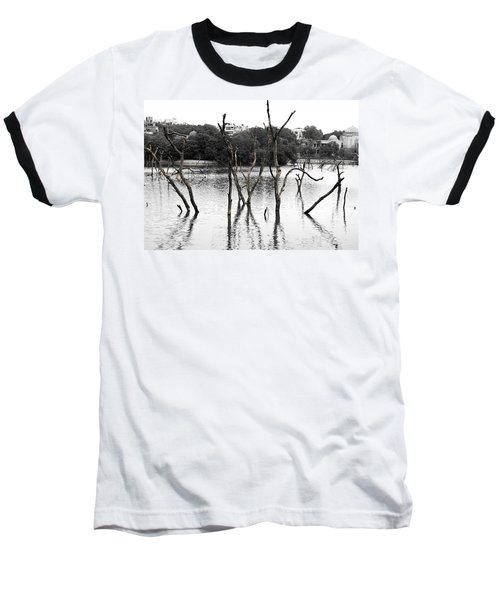Stomps Of Trees In A Lake Baseball T-Shirt