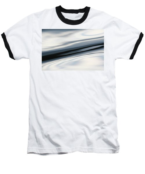Streak Of Blue Baseball T-Shirt by Cathie Douglas