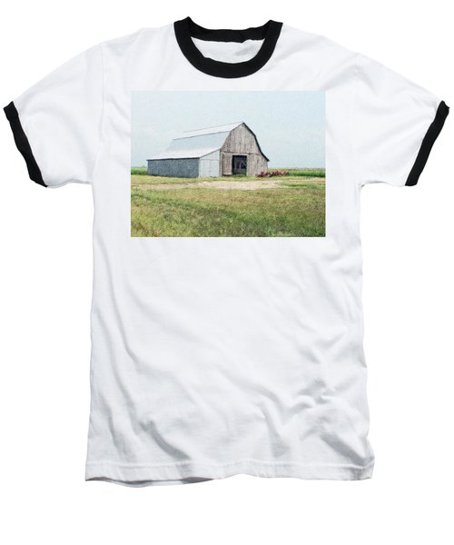 Baseball T-Shirt featuring the digital art Summer Barn by Debbie Portwood
