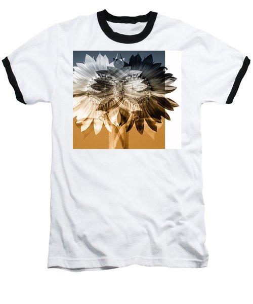 Sunflower Abstract Baseball T-Shirt