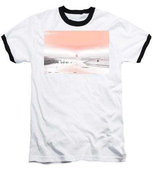 Pastel Sunrise Beach Baseball T-Shirt