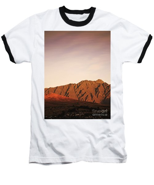 Sunset Mountain 2 Baseball T-Shirt