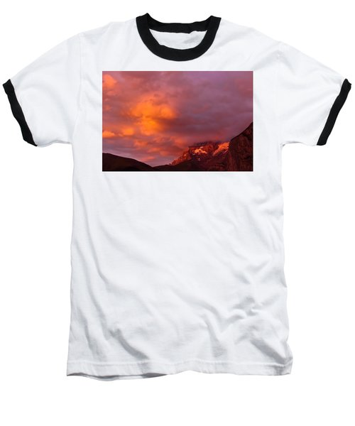 Sunset Murren Switzerland Baseball T-Shirt