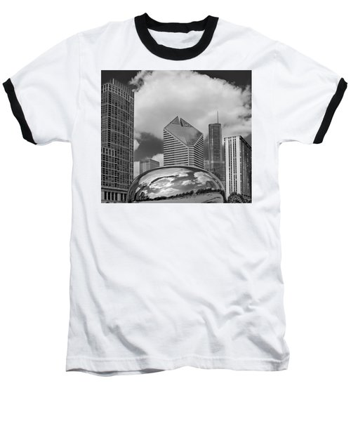The Bean Chicago Illinois Baseball T-Shirt by Dave Mills