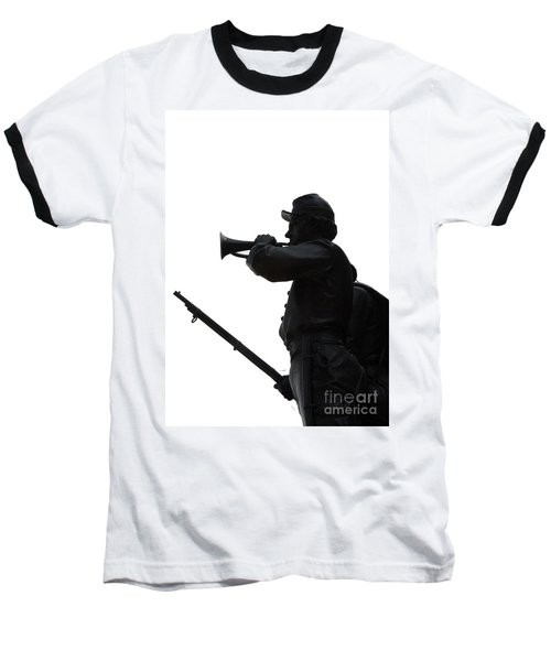 Baseball T-Shirt featuring the photograph The Bugler by Cindy Manero