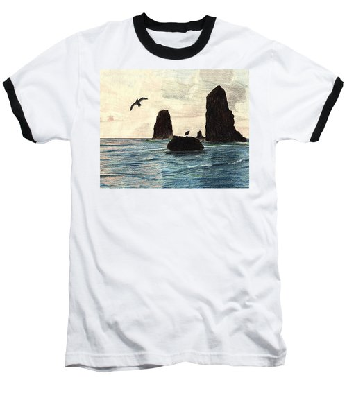 Baseball T-Shirt featuring the drawing The Needles by Wendy McKennon