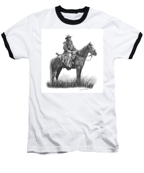Baseball T-Shirt featuring the drawing the Quest by Marianne NANA Betts