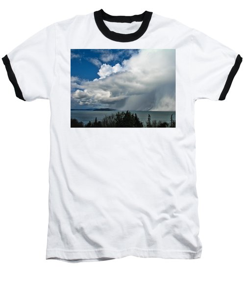 Baseball T-Shirt featuring the photograph The Wall by David Gleeson