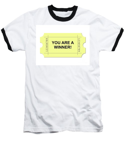 Ticket Yellow Baseball T-Shirt