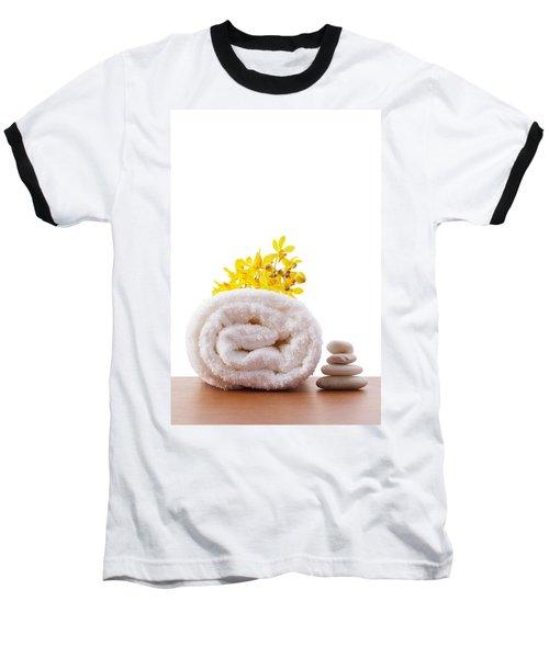 Towel Roll Baseball T-Shirt by Atiketta Sangasaeng