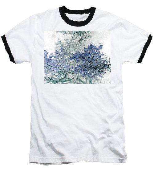 Trees Above Baseball T-Shirt by Rebecca Margraf