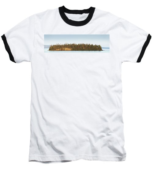 Trees Covering An Island On Lake Baseball T-Shirt by Susan Dykstra