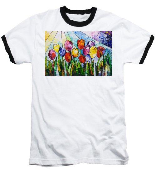 Tulips On Parade Baseball T-Shirt