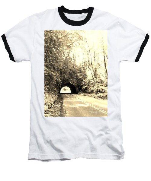 Tunnel Vision Baseball T-Shirt by Janice Spivey