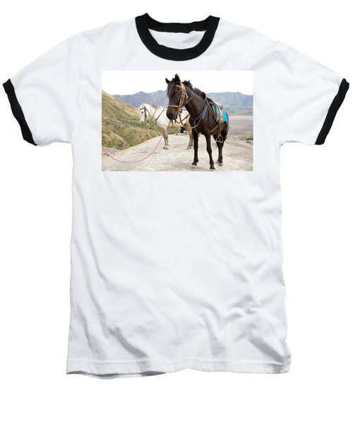 Baseball T-Shirt featuring the photograph Two Horses by Yew Kwang