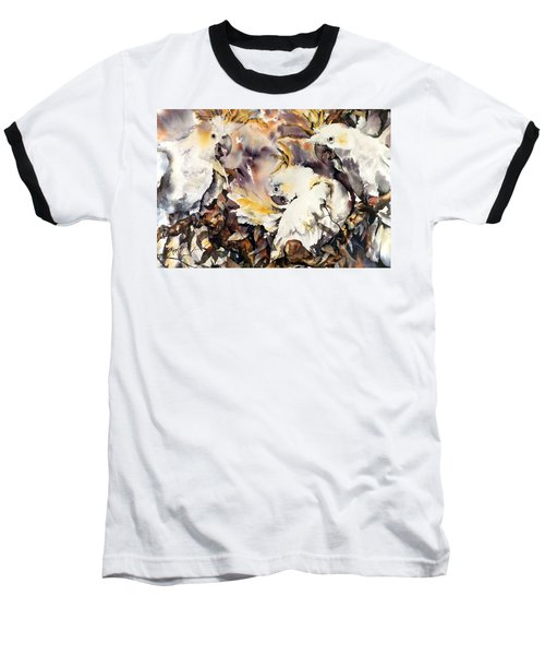 Baseball T-Shirt featuring the painting Two's Company by Rae Andrews