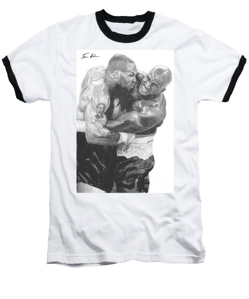 Tyson Vs Holyfield Baseball T-Shirt