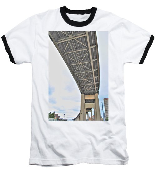 Baseball T-Shirt featuring the photograph Under The Skyway by Michael Frank Jr