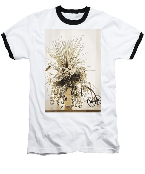 Vase With Flowers On A Window Table Baseball T-Shirt
