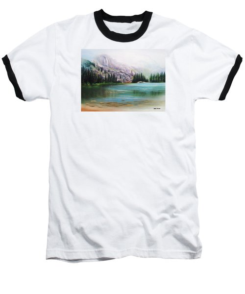 Veil Over Elk Lake Baseball T-Shirt