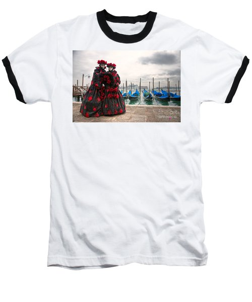 Baseball T-Shirt featuring the photograph Venice Carnival Mask by Luciano Mortula