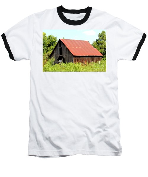 Baseball T-Shirt featuring the photograph White Horse Waiting by Kathy  White