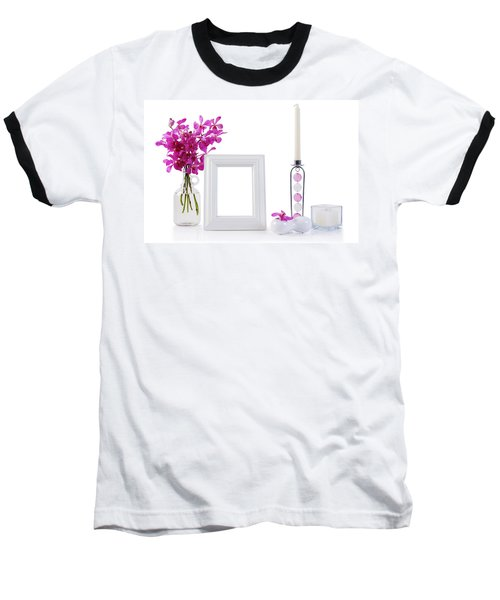 White Picture Frame In Decoration Baseball T-Shirt by Atiketta Sangasaeng