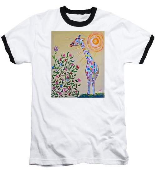 Wild And Crazy Giraffe Baseball T-Shirt