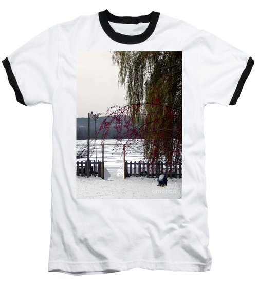 Willows And Berries In Winter Baseball T-Shirt